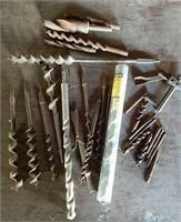 Drill bits & 1inch Irwin hammer drill bit