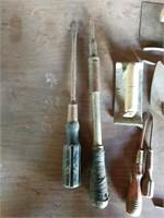 Screwdrivers, pliers, trowels