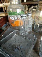 Glass juicers container and Ash trays