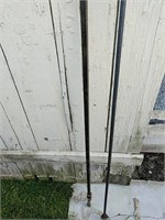 Heavy iron curtain rods