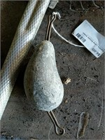 Fishing nets and cod weight