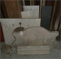 Marble table and shelf pieces