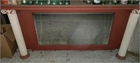 Fireplace mantle with mirror