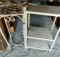 Metal plant stand and shelf