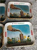 Coca-Cola trays some old some new