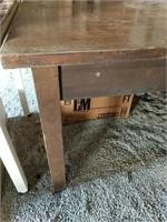Wood veneer top table