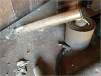 Prest-O-Lite torch, tire pump, miter box