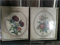 Various art prints in frames