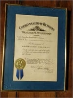 Kentucky Colonel framed documents