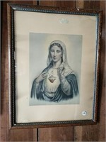Sacred Heart and Immaculate heart prints