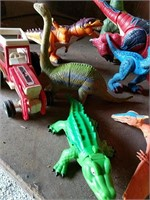Dinosaurs, Lion and tractor