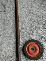 Heavy machine moving lever