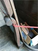 Broken curio cabinet