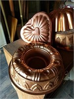 Copper? Jello molds, wire baskets, vases