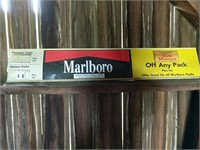 Marlboro, Camel, Kool Advertising signs