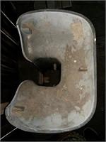 Porcelain sink pedestal