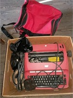 IBM electric typewriter and tote
