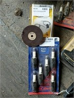 Chain saw blades, spark plugs, jigsaw blades