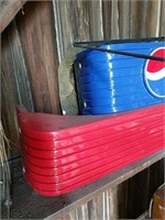 Coke and Pepsi plastic toppers