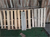 All remaining pallets on property