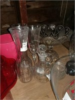 Glassware, vases and bowls
