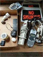 No Smoking signs, power strips , odds and ends