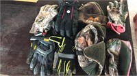 Fleece lined gloves and hats