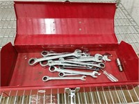 Wrenches in tool box