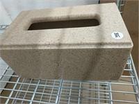 Corian stone-like Kleenex box cover