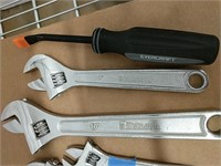 Crescent wrenches, pliers