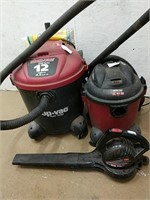 Shop vac and Toro electric blower