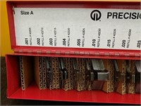 2x2 steel size A  slotted shim assortment