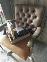 Office chair file box, desk