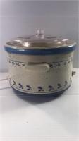 Vintage Rival Crock Pot Stoneware 5 Qt Slow