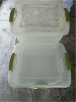 Various size plastic totes