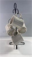 Mugs (5) & Black Coffee Mug Tree