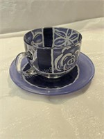 8 Place Setting Tea Cup Set Made In France