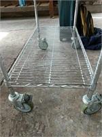 Stainless steel baker's rack on wheels
