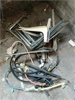 Shelf brackets and bungee cords