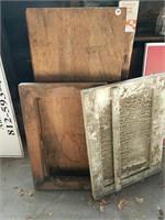 Wooden slab and cabinet door