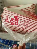 Popcorn boxes, parchment paper sheets