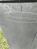 Rubbermaid trash can on wheels
