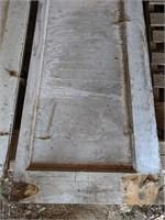 4 Long white wooden cabinet doors