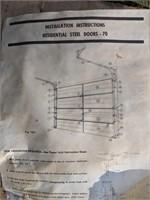 Overhead garage door track