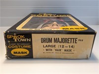 Vintage Ben Cooper Majorette Mask & Costume