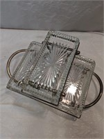 Vintage Silver Plated Relish Server With O