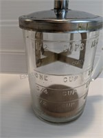 Vintage Pamco Nut Chopper & Measuring Cup,