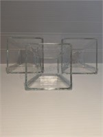 Apple Shaped Glass Serving Dish & 7 Small Serving