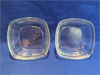 Vintage Cut Glass Bowls, Small Plates, Pinch