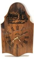Vintage Bulova Wooden Windmill Clock